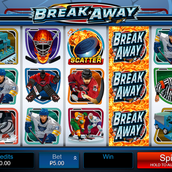 The appearance of the Break Away slot machine from Microgaming in the Gaminator system. There is an RTP setting.